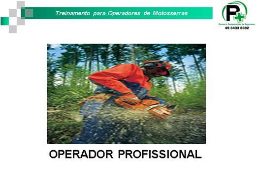 Curso Online de Curso para Operador de Motosserra