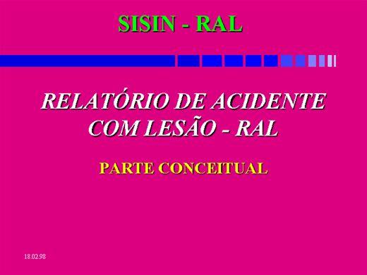 Curso Online de RELATÓRIO DE ACIDENTE COM LESÃO - RAL