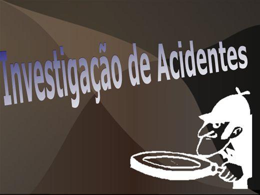 Curso Online de Investigação de Acidente