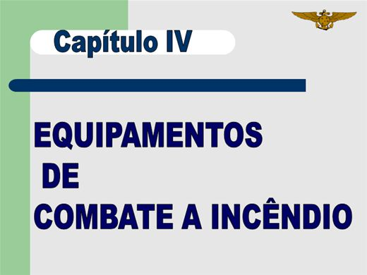Curso Online de EQUIPAMENTOS  DE  COMBATE A INCÊNDIO
