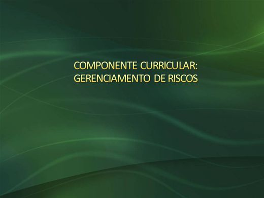 Curso Online de GERENCIAMENTO DE RISCOS