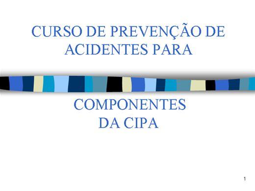 Curso Online de CURSO DE PREVENÇÃO DE ACIDENTES PARA CIPA