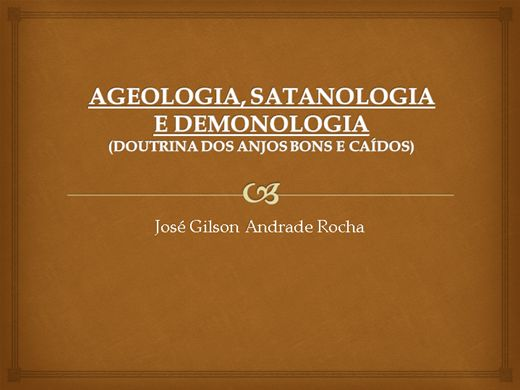 Curso Online de ANGEOLOGIA, SATANOLOGIA E DEMONOLOGIA