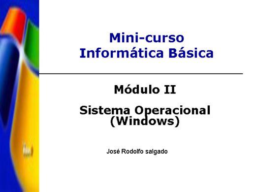 Curso Online de Visão Basica do Sistema Operacional