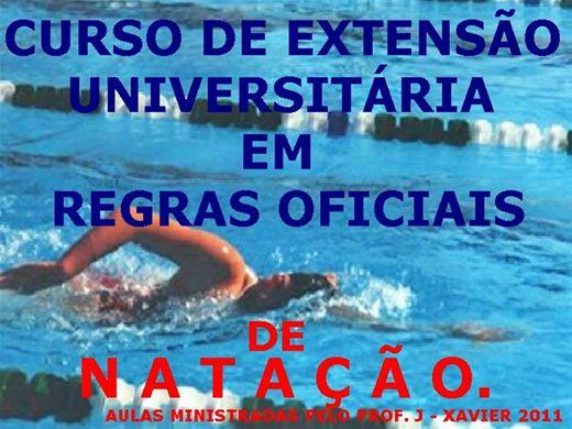 Curso Online de EXTENSÃO UNIVERSITÁRIA EM REGRAS OFICIAIS DE NATAÇÃO 2012.