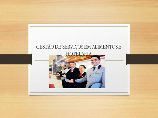 Curso Online de GESTÃO DE SERVIÇOS EM ALIMENTAÇÃO E HOTELARIA