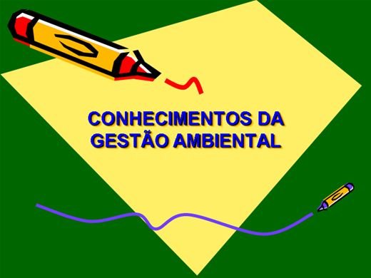 Curso Online de CONHECIMENTOS DA GESTÃO AMBIENTAL