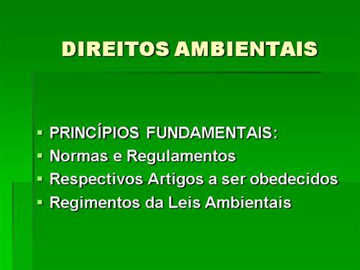 Curso Online de DIREITOS AMBIENTAIS