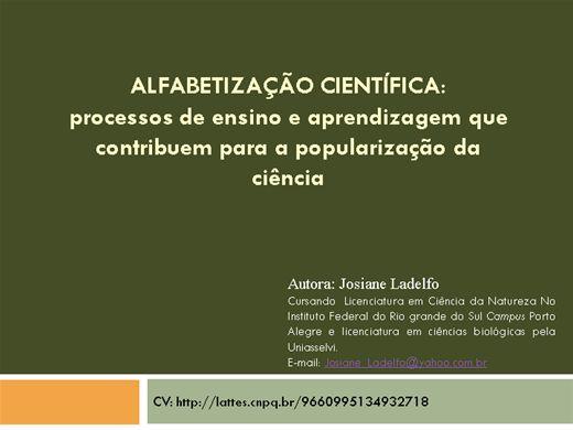 Curso Online de ALFABETIZAÇÃO CIENTÍFICA: