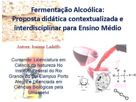 Curso Online de Fermentação Alcoólica: Proposta didática contextualizada e interdisciplinar para Ensino Médio