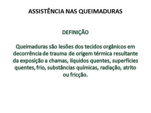 Curso Online de ASSISTÊNCIA DE ENFERMAGEM NAS QUEIMADURAS
