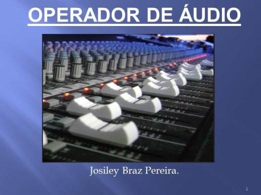 Curso Online de Operador de Áudio