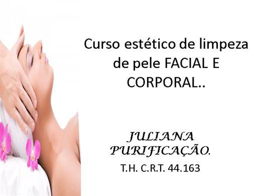 Curso Online de curso estético de limpeza de pele facial e corporal.