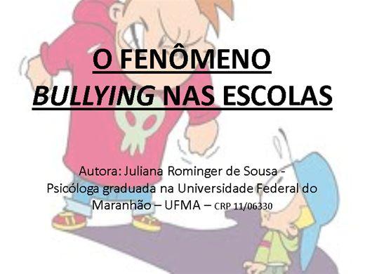 Curso Online de O fenômeno bullying nas escolas