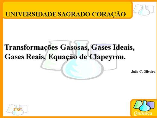Curso Online de Gases Reais e Gases Ideais