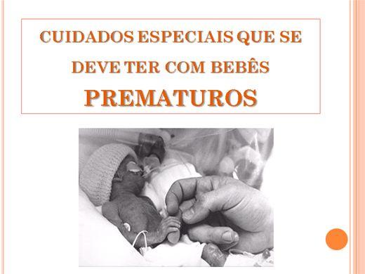 Curso Online de Cuidados Especiais Que Se Deve Ter Com Bebês Prematuros