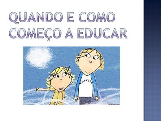 Curso Online de QUANDO E COMO COMEÇO A EDUCAR