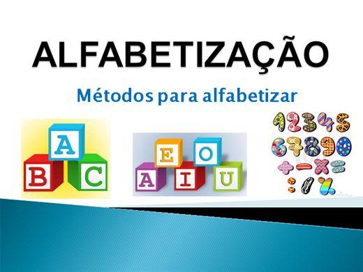 Curso Online de ALFABETIZAÇÃO -Métodos para alfabetizar 14hs.