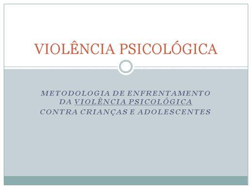 Curso Online de VIOLÊNCIA PSICOLÓGICA