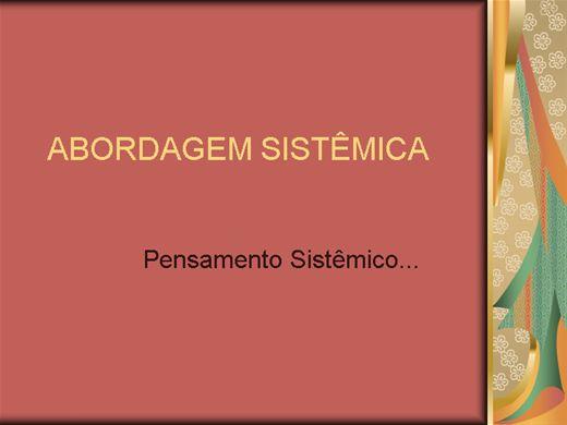 Curso Online de ABORDAGEM SISTÊMICA
