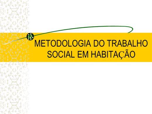 Curso Online de Metodologia do Trabalho Social em Habitação