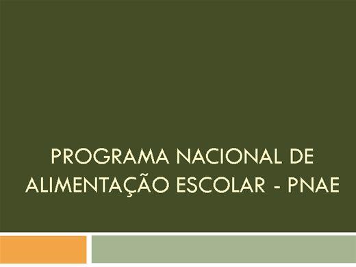 Curso Online de PNAE