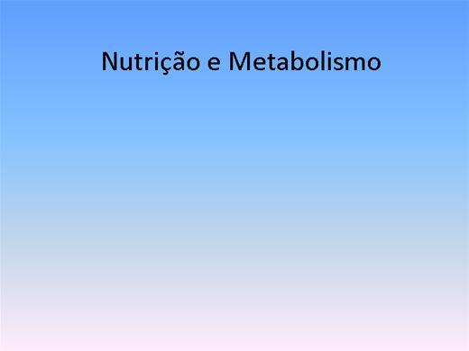 Curso Online de Nutrição e Metabolismo