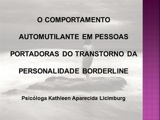 Curso Online de TRANSTORNO DA PERSONALIDADE BORDERLINE