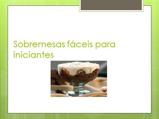 Curso Online de sobremesa fáceis para iniciantes