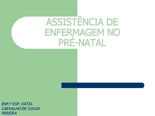Curso Online de ASSISTÊNCIA DE ENFERMAGEM NO PRÉ-NATAL