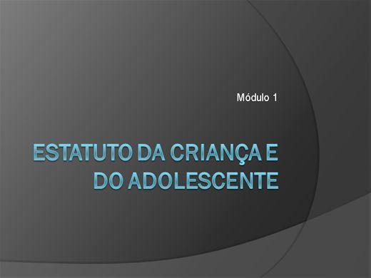 Curso Online de ESTATUTO DA CRIANÇA E DO ADOLESCENTE