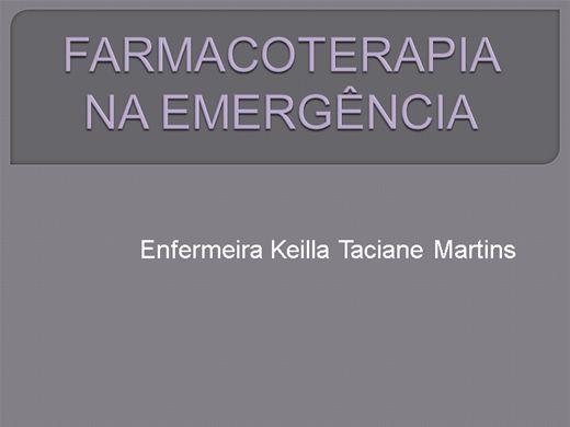 Curso Online de FARMACOTERAPIA NA EMERGÊNCIA