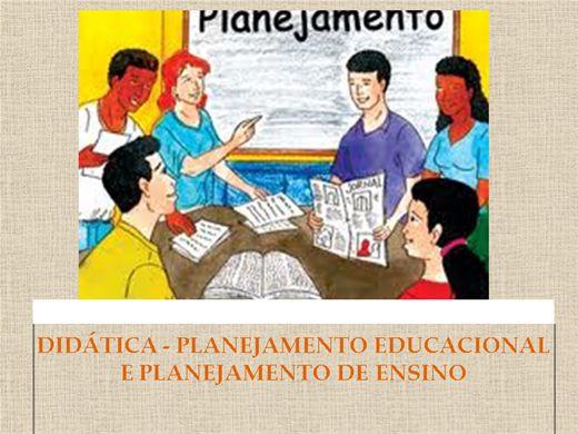 Curso Online de DIDÁTICA - PLANEJAMENTO EDUCACIONAL E PLANEJAMENTO DE ENSINO