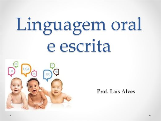 Curso Online de Linguagem Oral e Escrita