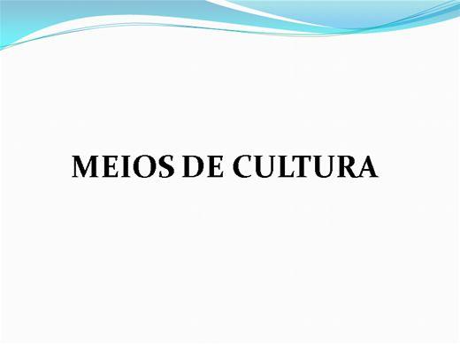 Curso Online de Meios de Cultura