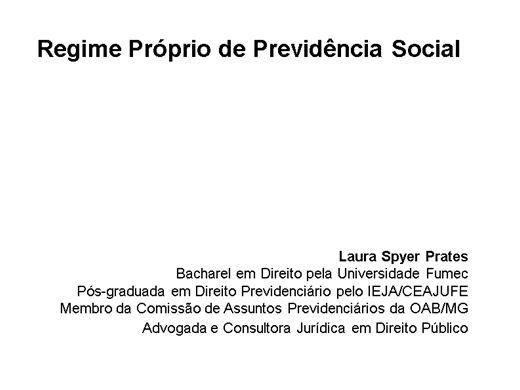 Curso Online de Regime Próprio de Previdência Social
