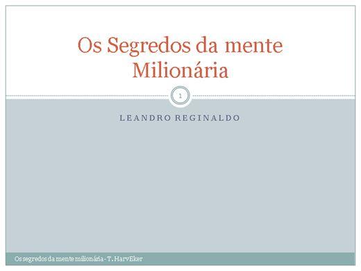 Curso Online de O segredo das mentes milionárias