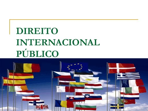 Curso Online de Direito Internacional Público