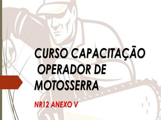 Curso Online de Capacitação Operador de Motosserra