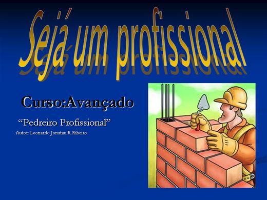 Curso Online de Pedreiro profissional