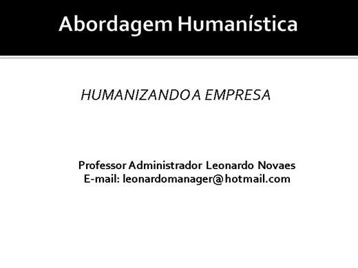 Curso Online de Teoria das Relações Humanas - Abordagem Humanística