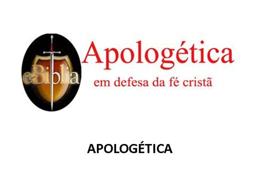 Curso Online de APOLOGÉTICA