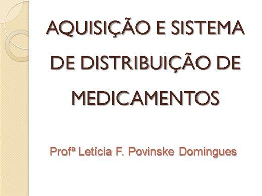 Curso Online de Farmácia Hospitalar: Aquisição e Sistema de Distribuição de Medicamentos