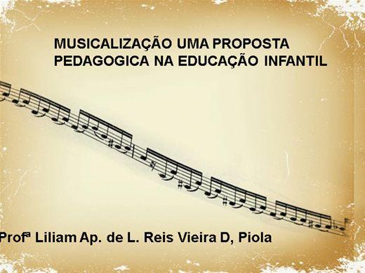 Curso Online de MUSICALIZAÇÃO UMA PROPOSTA PEDAGOGICA NA EDUCAÇÃO INFANTIL
