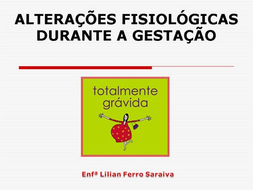 Curso Online de ALTERAÇÕES FISIOLÓGICAS NA GESTAÇÃO
