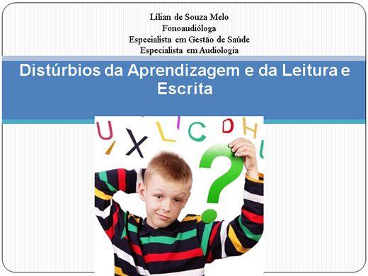 Curso Online de Distúrbios da Aprendizagem e da Leitura e Escrita