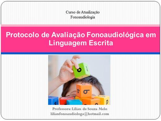 Curso Online de Protocolo de Avaliação em Linguagem Escrita