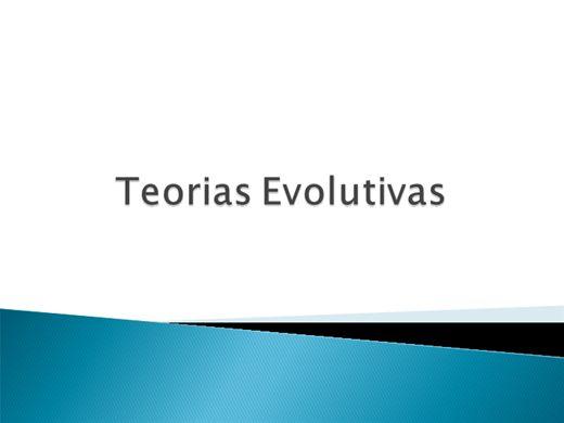 Curso Online de Teorias Evolutivas