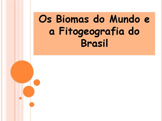 Curso Online de Os Biomas do Mundo e a Fitogeografia do Brasil