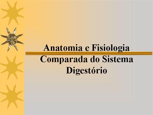 Curso Online de Anatomia e Fisiologia Comparada do Sistema Digestório